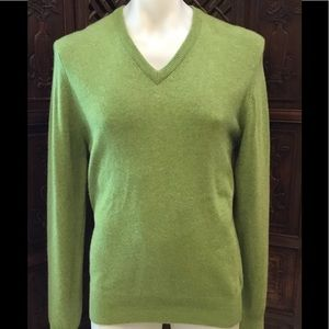 💚 BROOKS BROTHERS SIZE M 100% CASHMERE SWEATER